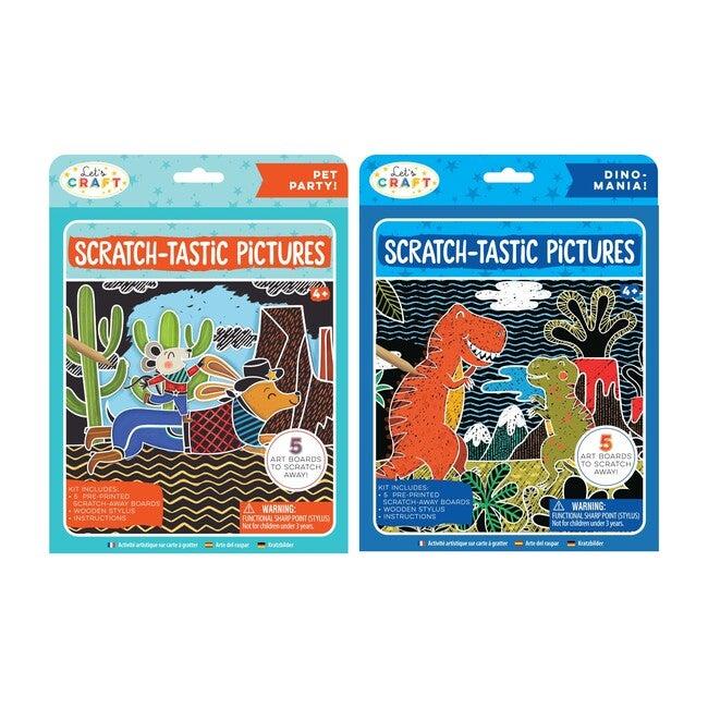 Scratch-Tastic Pictures Bundle: Pets & Dinos