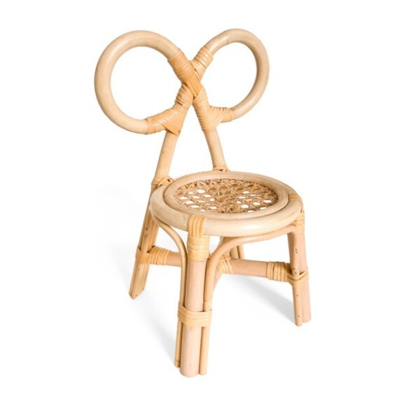 Set of 2 Mini Bow Chairs, Natural