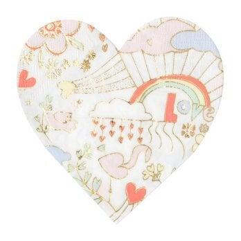 Valentine Doodle Small Napkins