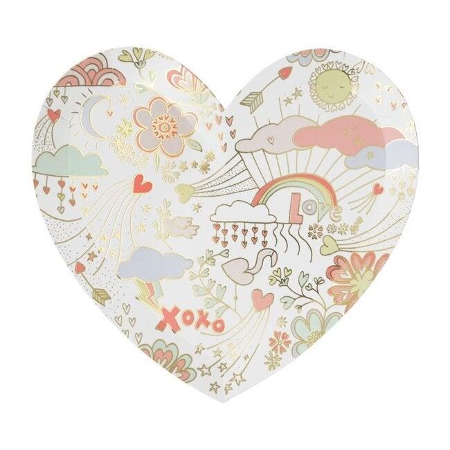 Valentine Doodle Large Plates