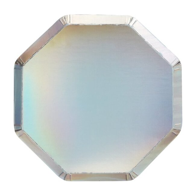 Silver Holographic Side Plates