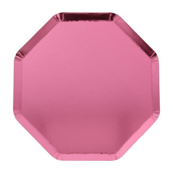 Metallic Pink Cocktail Plates