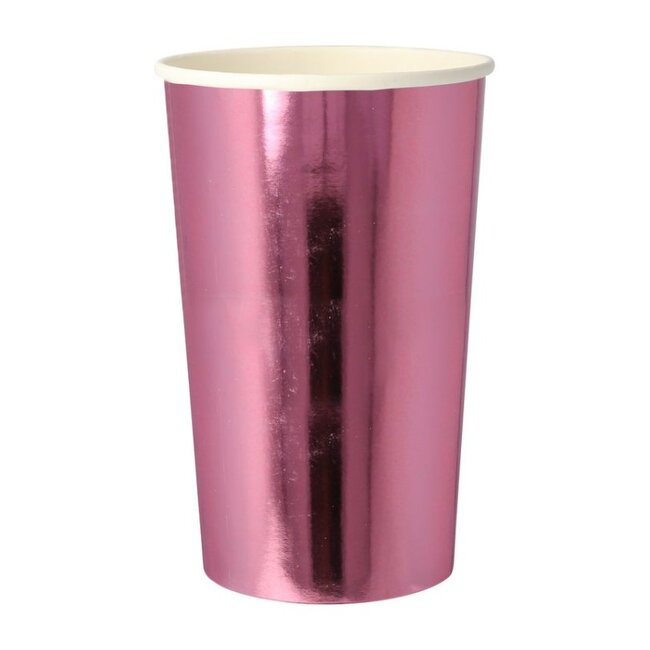 Metallic Pink Highball Cups