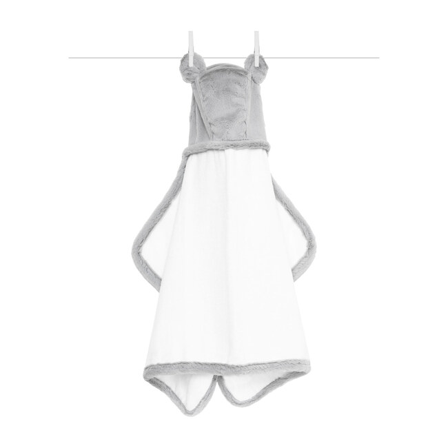 Luxe Baby Towel, Silver