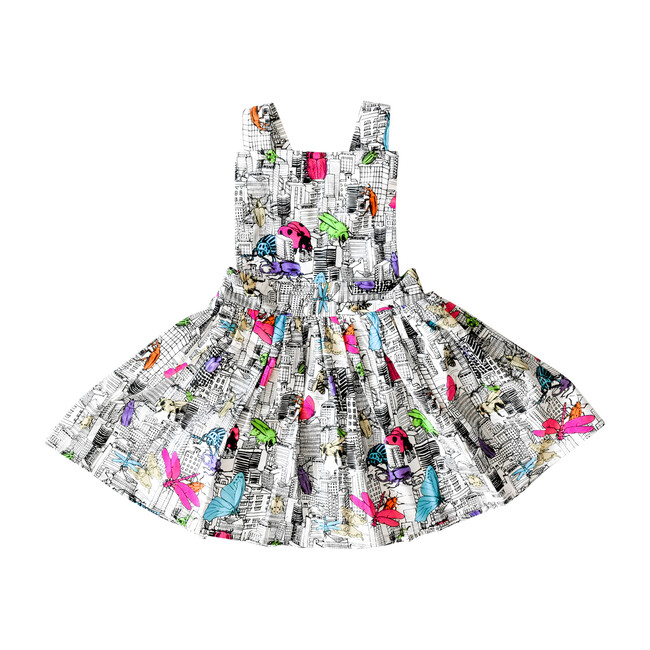 Pinafore Dress, Bug Invasion