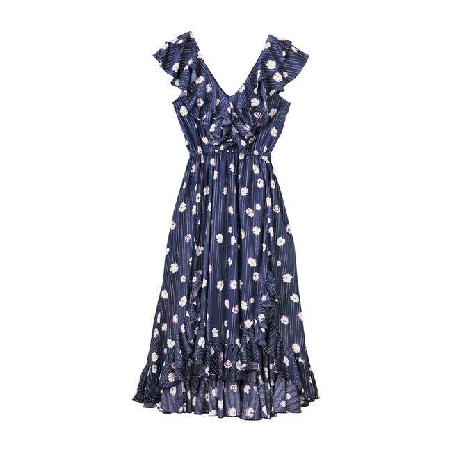 Women's Ruby Dress, Pansy Print