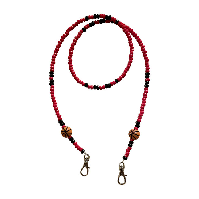 Red & Black Basketball Mask Chain