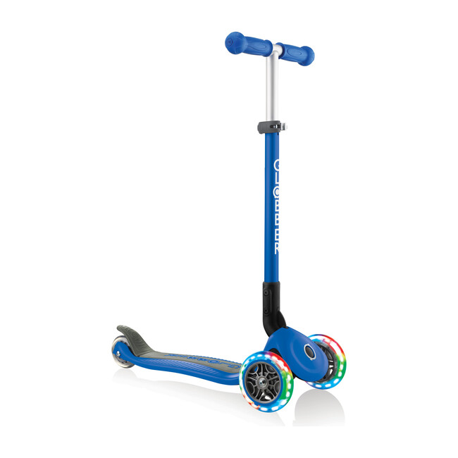 Primo Foldable Scooter with Lights, Navy Blue