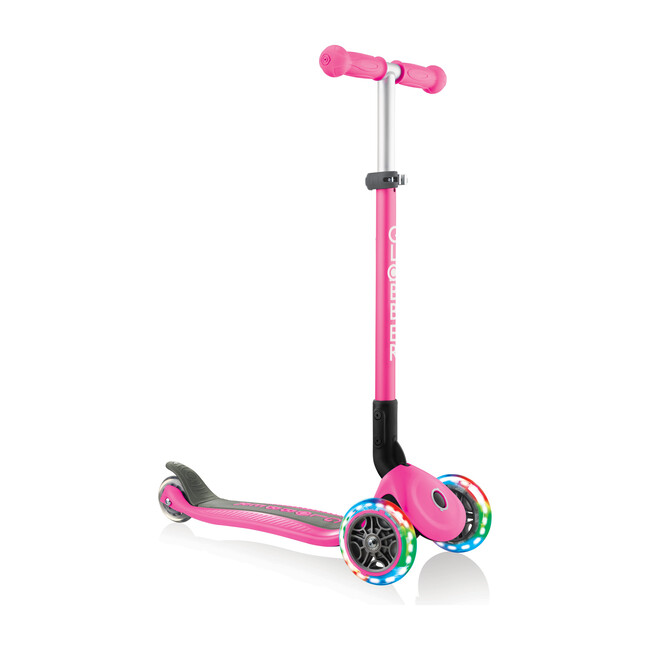 Primo Foldable Scooter with Lights, Deep Pink