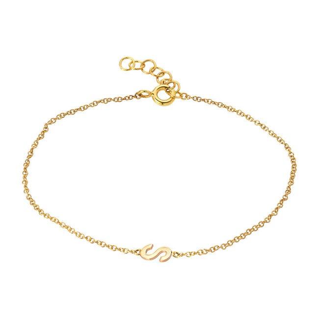 14k Gold Initial Bracelet - Bracelets - 1