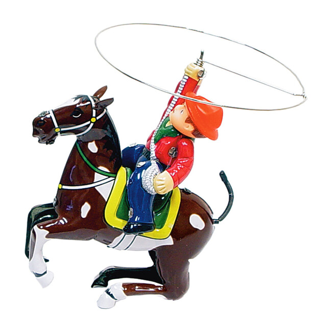 Cowboy with Rope Tin Toy - Transportation - 1