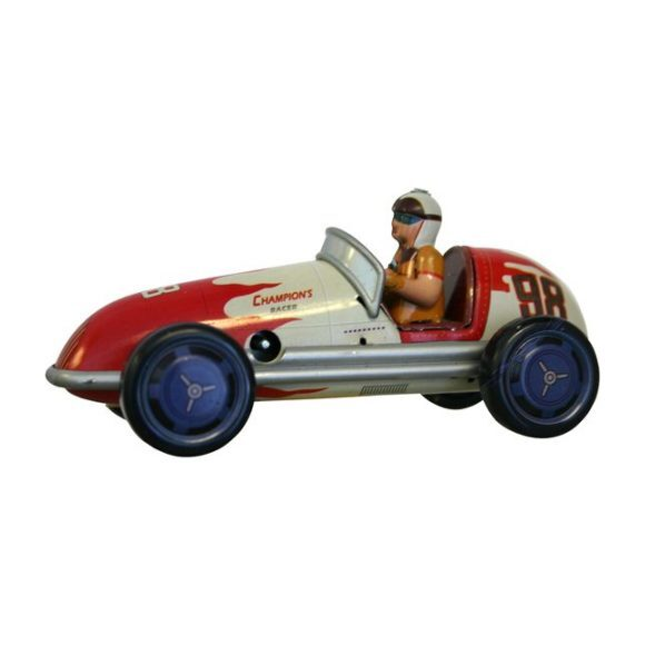 Champion Racer Tin Toy, Red