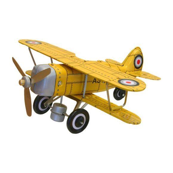 Curtis Biplane Tin Toy, Yellow