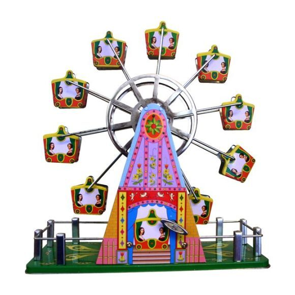 Musical Ferris Wheel Tin Toy, Multi