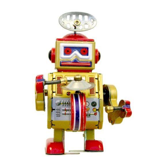Robot Tin Toy, Yellow