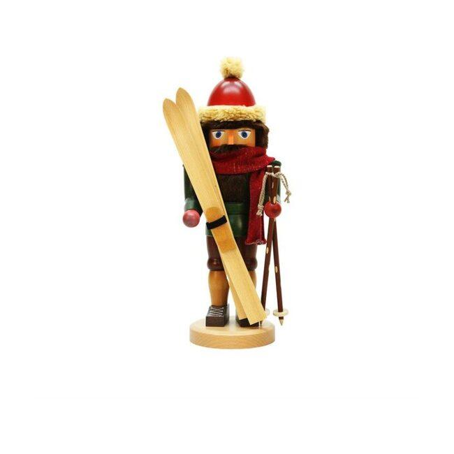Skier Nutcracker, Red