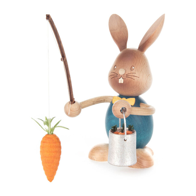 Easter Figure, Bunny Fishing For Carrots