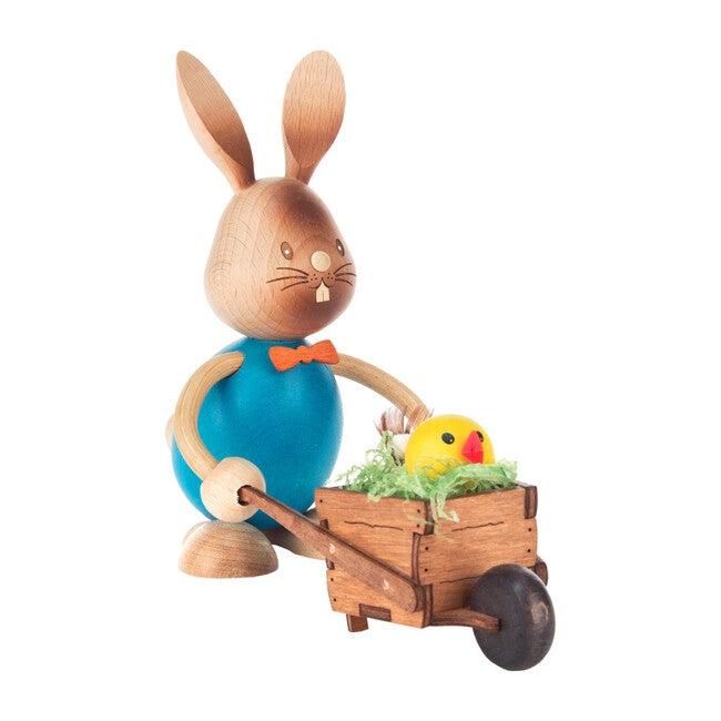 Easter Figure, Rabbit with Wheelbarrow