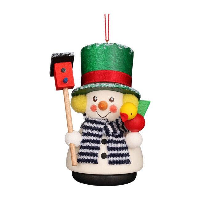 Snowman With Bird House Ornament - Ornaments - 1