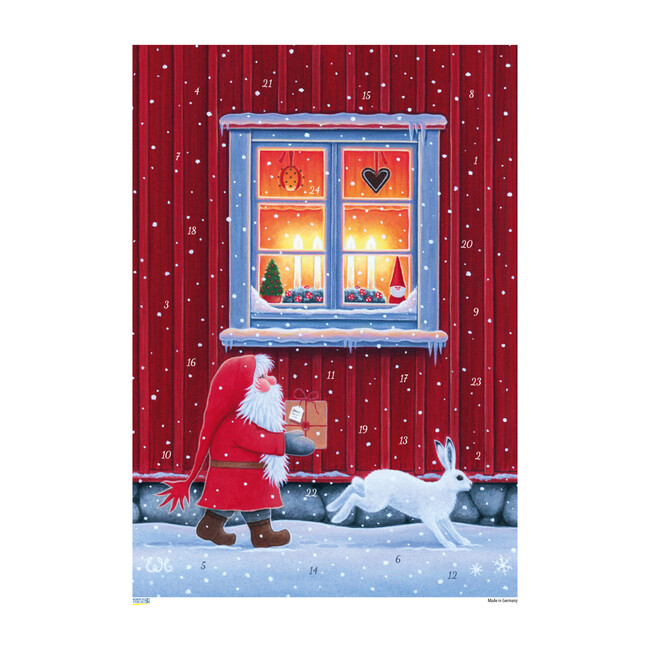Tomte with Window Advent Calendar