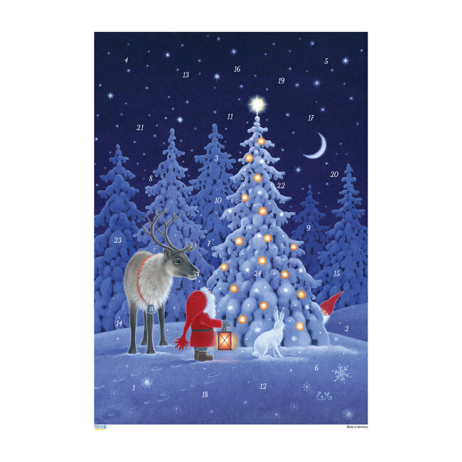 Tomte with Reindeer Advent Calendar