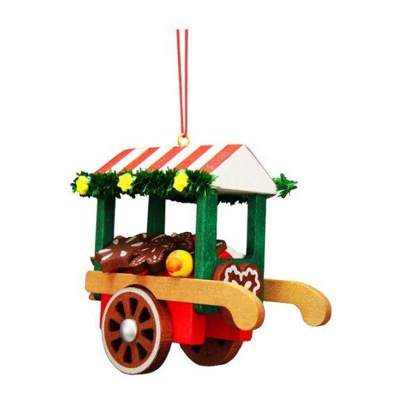 Gingerbread Cart Ornament, Multi