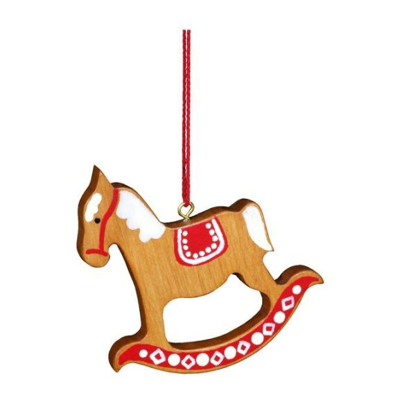 Rocking Horse Ornament, Red/Brown