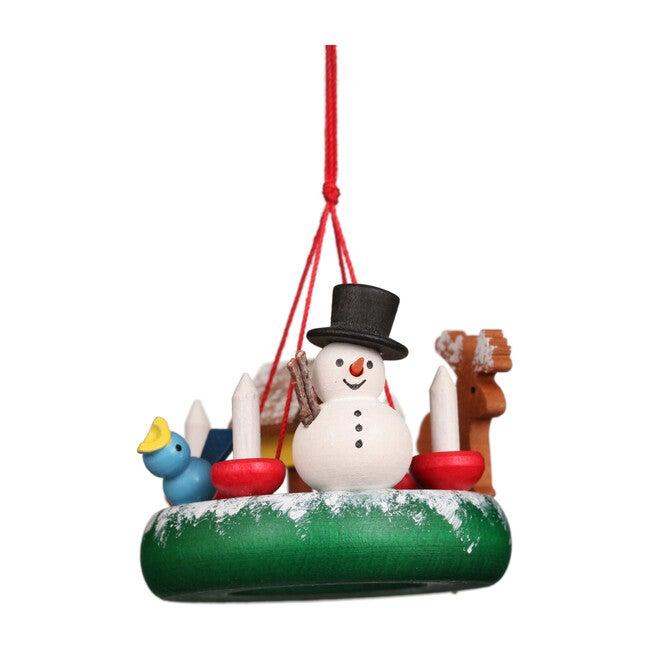 Snowman on Wreath Ornament