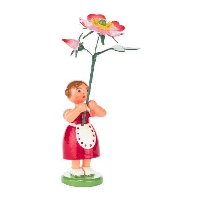 Easter Figurine, Red Flower Girl