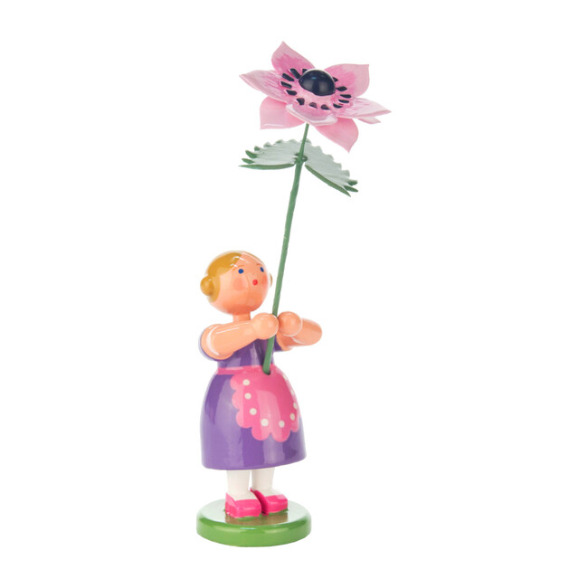 Easter Figurine, Violet Flower Girl