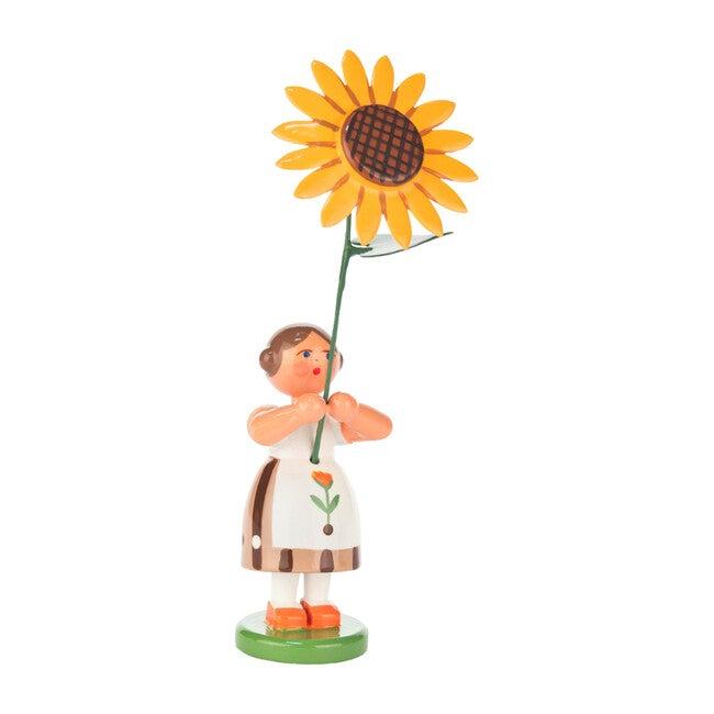 Easter Figurine, Brown Flower Girl