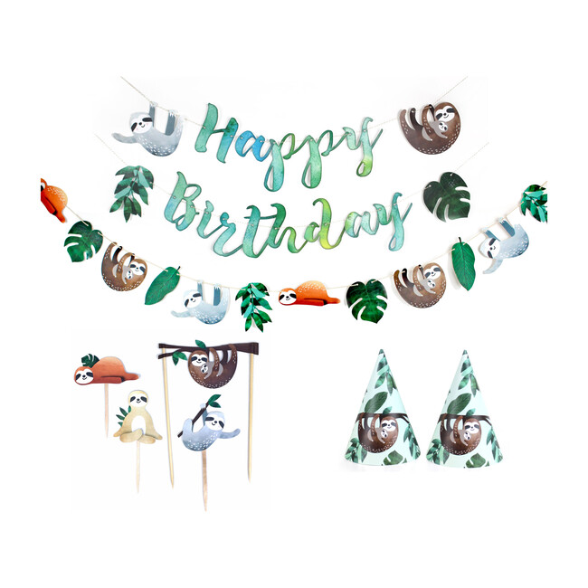 Sloth Birthday Party Decoration Kit