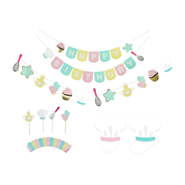 Little Bakers Birthday Party Decoration Kit