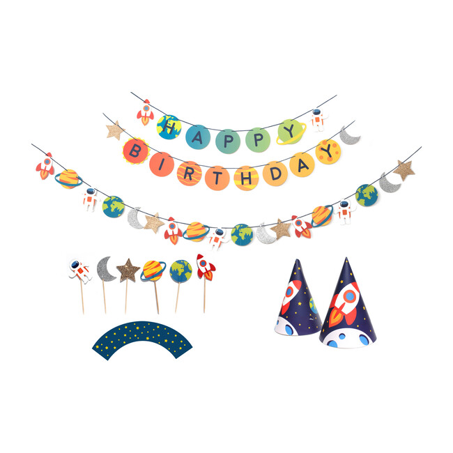 Trip To The Moon Birthday Party Decoration Kit