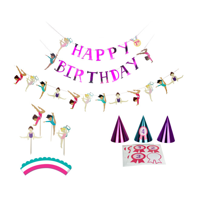 Gymnastics Birthday Party Decoration Kit