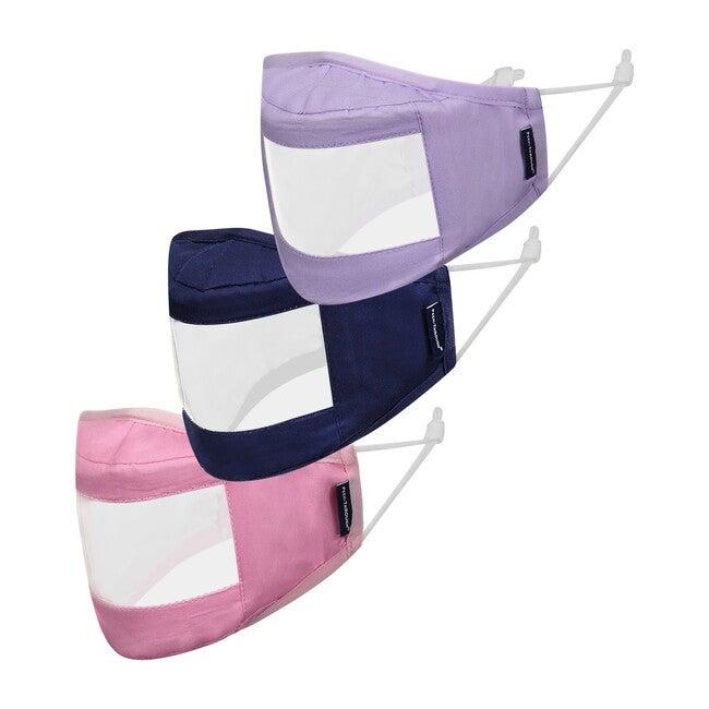 Kids 3-Pack Peek-Through Masks, Lilac