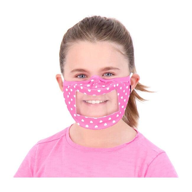 Kids 3-Pack Peek-Through Masks, Pink Fun