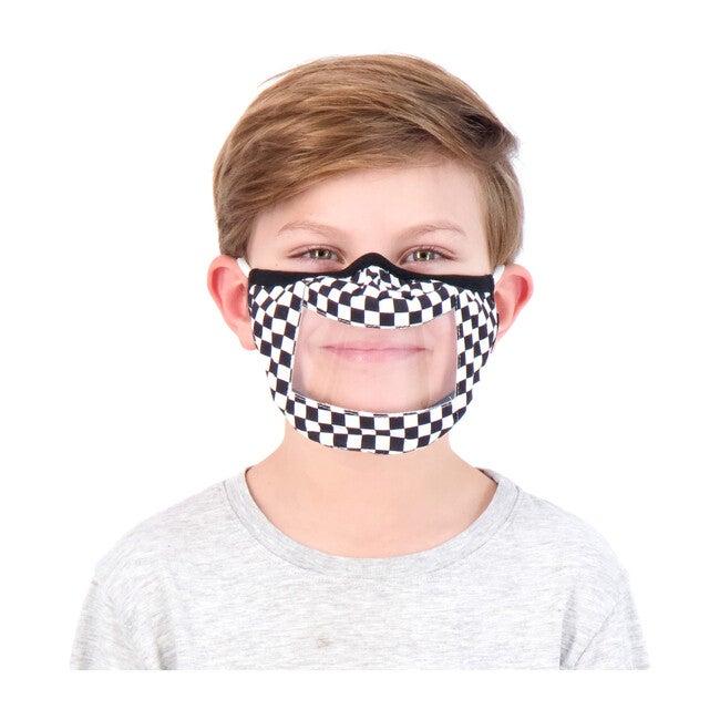 Kids 3-Pack Peek-Through Masks, Grey Camo