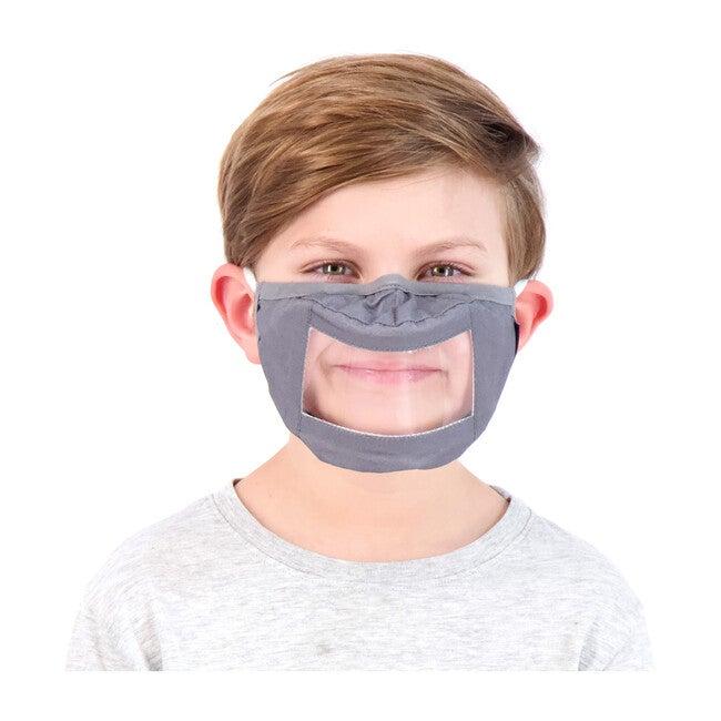 Kids 3-Pack Peek-Through Masks, Black & Navy