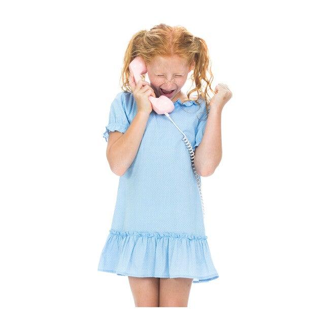 Samantha Dress, Blue Polka Dot