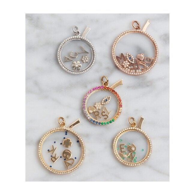 14k Gold Heart with Tiny Diamond Charm