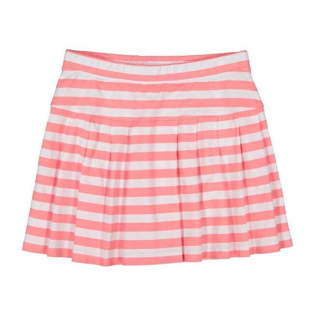 Joy Skirt, Sunkissed Coral Stripe - Skirts - 1