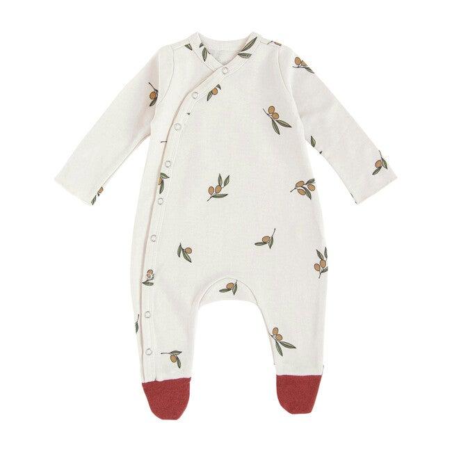 Contrasting Feet Suit, Olive Garden