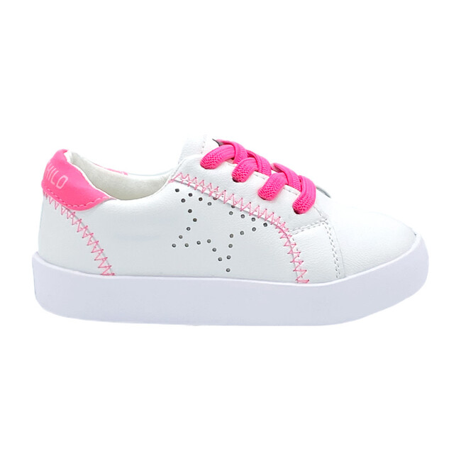 Izzy Sneaker, White & Pink