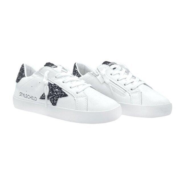 Henley Sneaker, White & Black