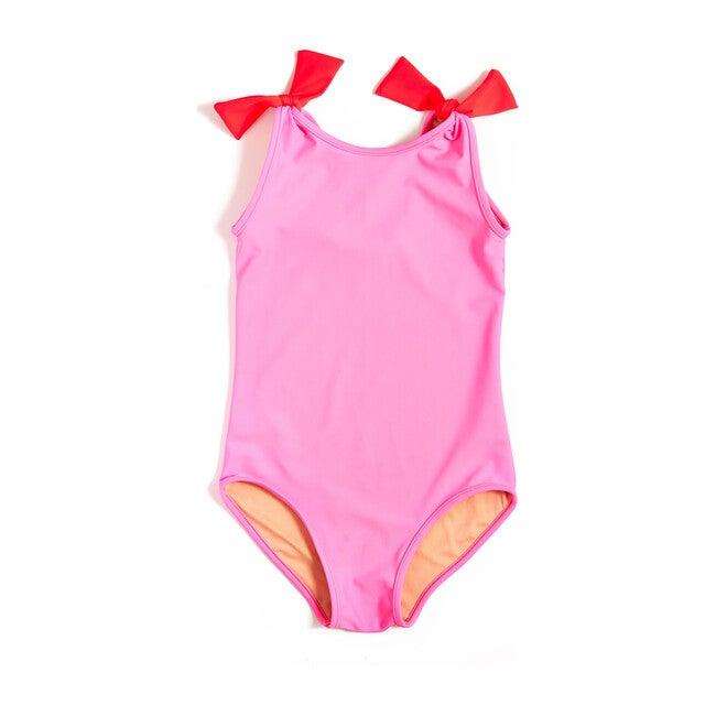 Tie Shoulder One Piece, Palm Beach Pink