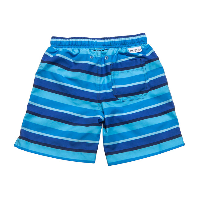 Mini Major Boardshort, Blue Stripe