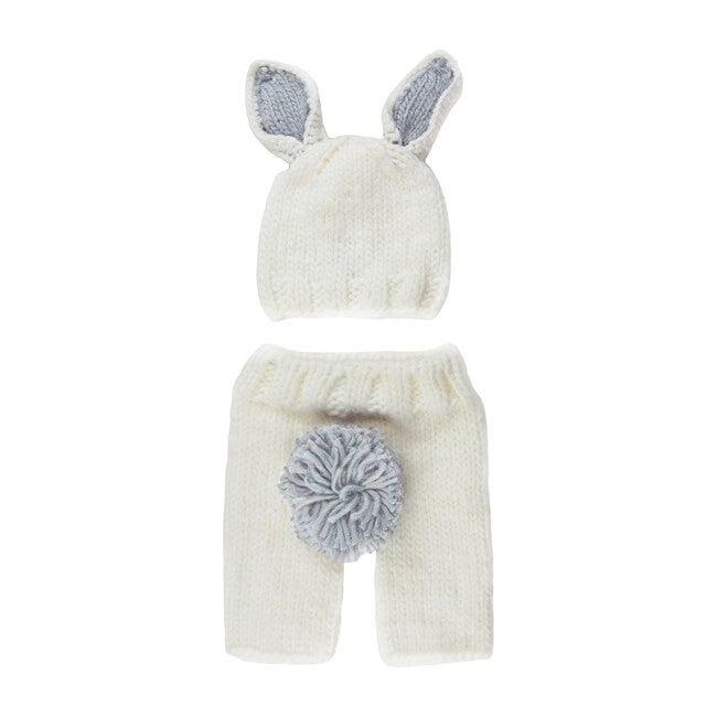 Bailey Bunny Newborn Set, White & Grey