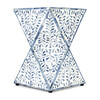Anais Bone Inlay End Table, White/Blue - Accent Tables - 5