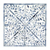 Anais Bone Inlay End Table, White/Blue - Accent Tables - 7